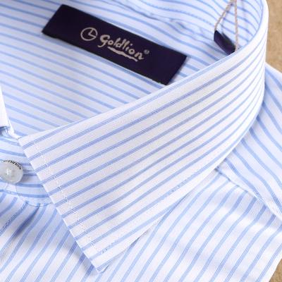 Truy cập goldlion sọc ngắn tay áo mùa hè kinh doanh đầm bông áo sơ mi nam quần tây áo sơ mi Áo