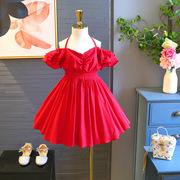 2018 mùa hè mới trẻ em Hàn Quốc khí dây đeo váy sexy quây váy thời trang công chúa váy