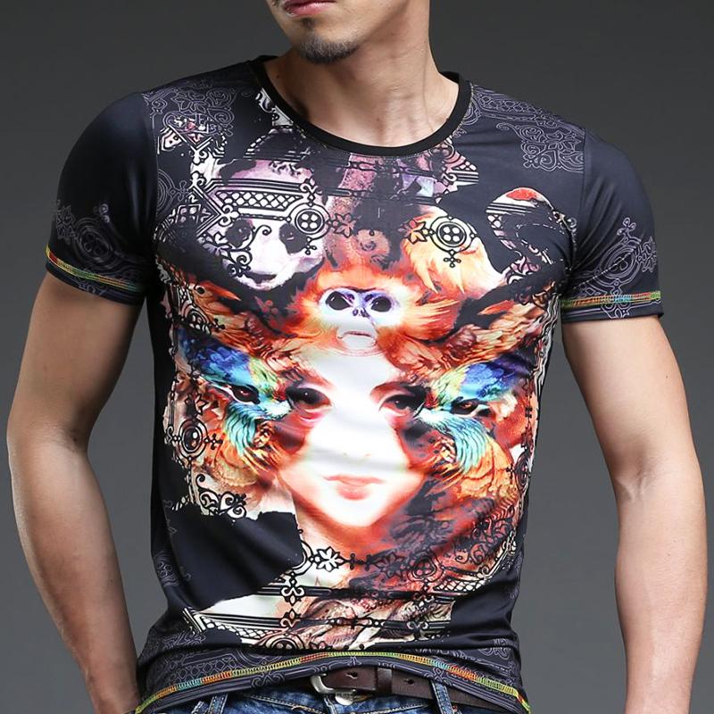 春夏男士短袖圆领修身纯白色打底t恤衫韩版紧身体恤半袖莱卡衣服