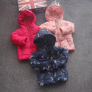 2-8 лет девочки подбитый зима закрытый хлопок пальто утолщённый сохраняющий тепло ватник ребенок зима