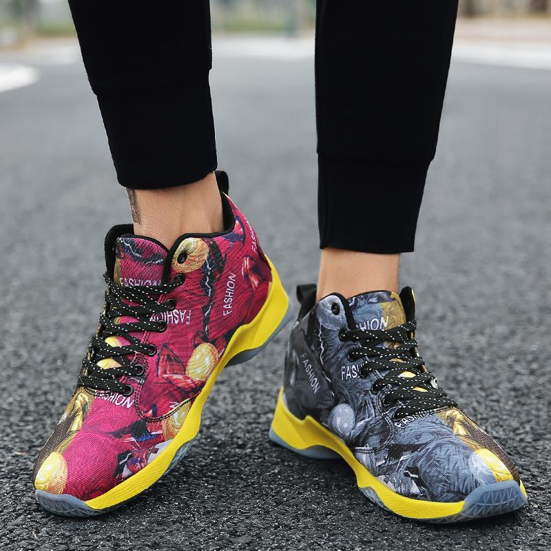 Mùa xuân mới giày thể thao nam giày giảm xóc giày giày có đế dày không trượt chịu mài mòn giày bóng rổ sinh viên giày chạy