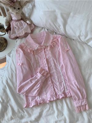 taobao agent 【Spot】Inside | Garlott rabbit lolita original cotton inside long-sleeved shirt op cute black sweet wind