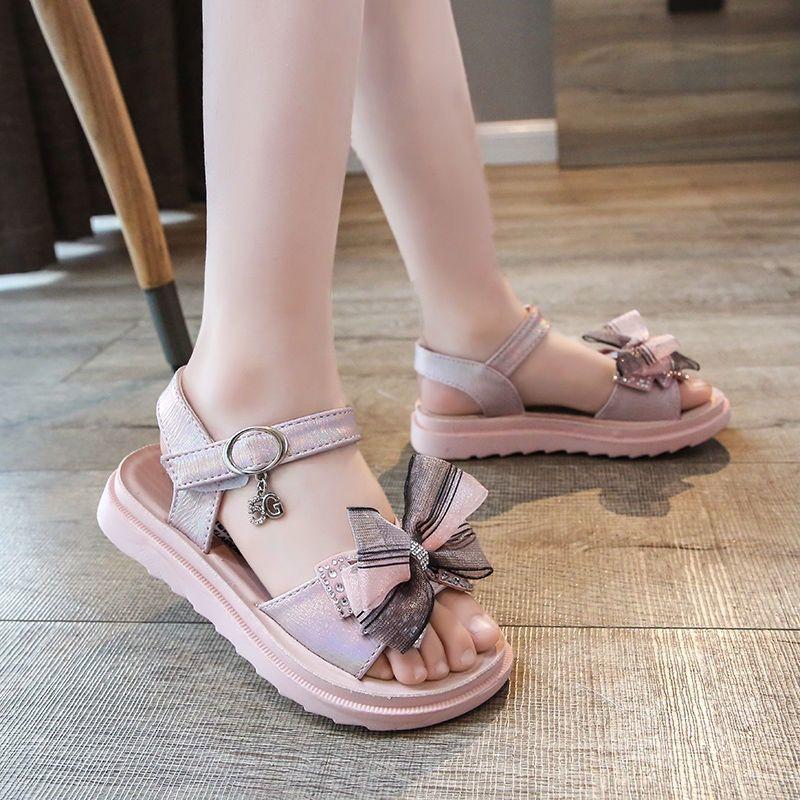 女童凉鞋2021夏季新款时尚童鞋女孩蝴蝶