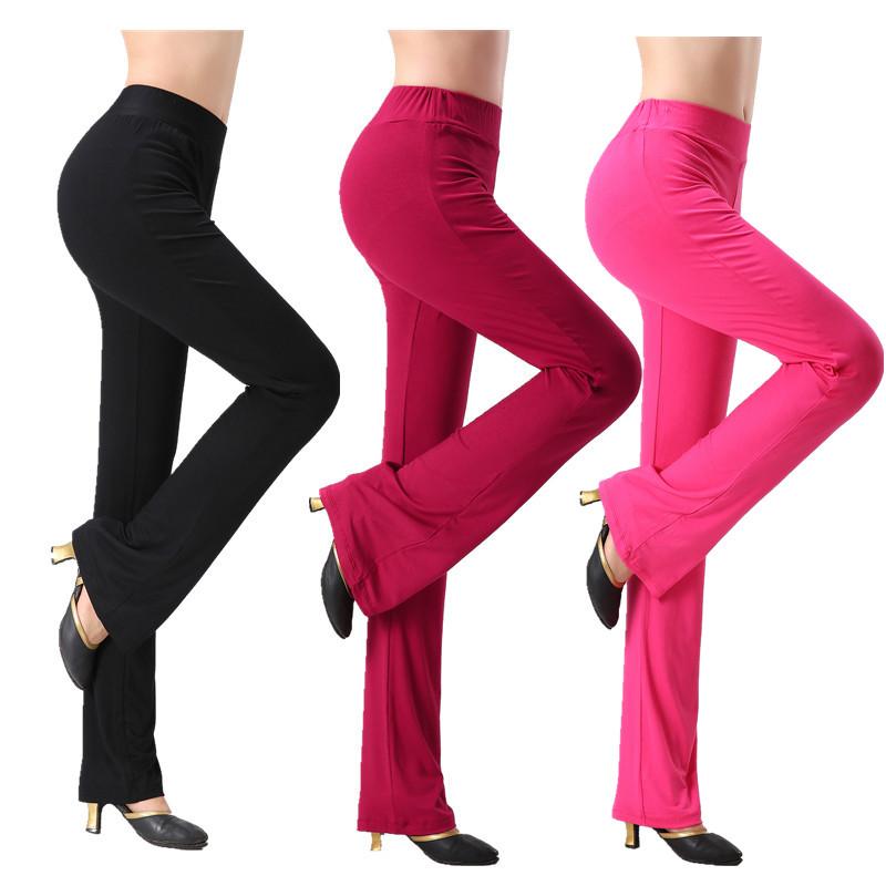Mùa xuân và mùa hè mới yoga quần nữ phương thức micro quần eo đàn hồi yoga quần áo nhảy vuông quần khiêu vũ thực hành quần