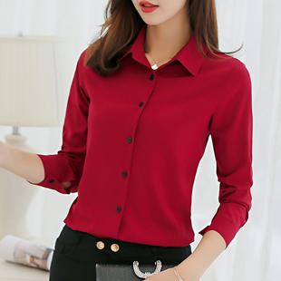 新款韩版女装宽松条纹衬衫