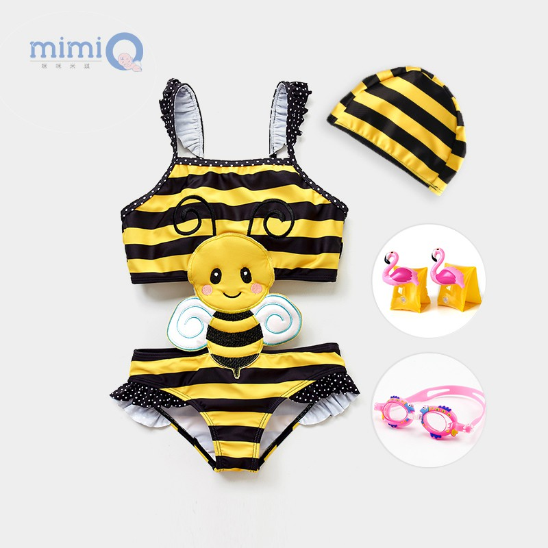 Cô gái bé gái áo tắm trẻ em 0-1 tuổi Cô gái trẻ em áo tắm một mảnh trẻ em dễ thương áo tắm công chúa nhỏ - Đồ bơi trẻ em
