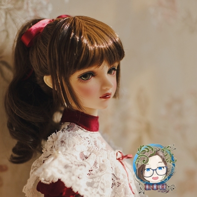 taobao agent 【Every year】BJD wig 3/4/6 points wig peach cocoa soft silk baby silk multi-size spot