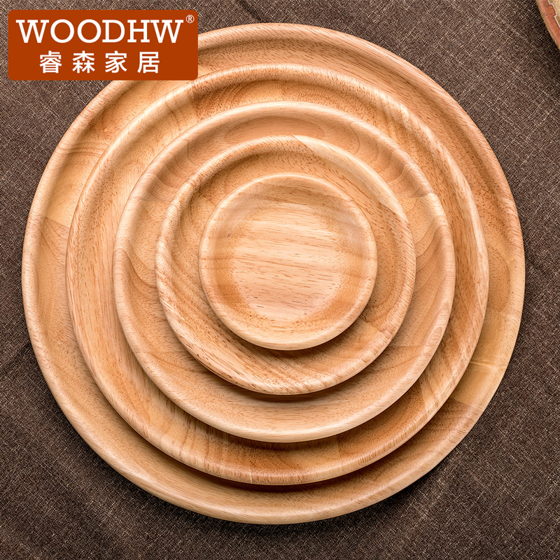 Ruisen gỗ tấm tròn món ăn bằng gỗ khay hộ gia đình ăn sáng tấm tấm gỗ tấm gỗ tấm gỗ tấm gỗ vòng