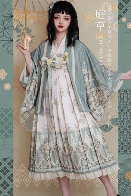 taobao agent 【Spot goods】Garden grass and wind long two-wear JSK/SK Laila's hymn original lolita