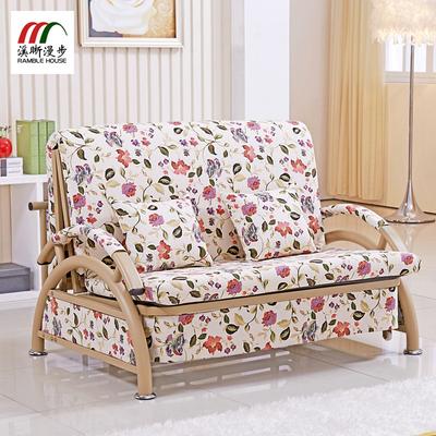沙发床可折叠1.2单双人1.5米客厅小户型多功能两用布艺床实木组合