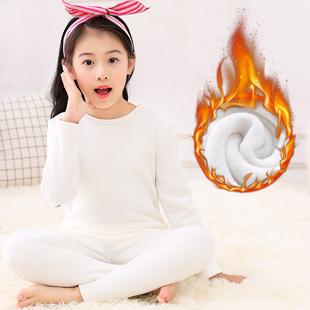 儿童加绒保暖纯棉内衣套装