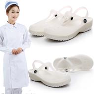 Giày y tá đế mềm - giày nhựa cho nhân viên y tá, điều dưỡng, nhân viên spa- sandal nữ nhiều màu đơn giản cho nữ - giày đế bằng cho bà bầu- Giày y tá trắng đế bằng cho nhân viên nữ