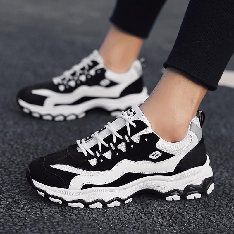 户外跑步潮鞋男鞋2019春季新款运动休闲鞋学生老爹鞋韩版增高43
