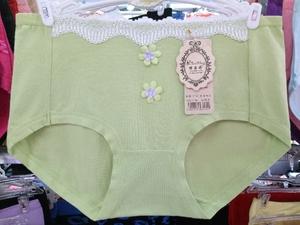 5条装 女士内裤女纯棉裆全棉质面料中腰性感蕾丝花边少女三角裤