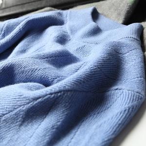 [Giải phóng mặt bằng đặc biệt] thương hiệu ban đầu thanh lịch có thể được gần với cổ tròn trùm đầu ấm áp nửa cao cổ áo len cashmere