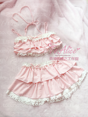 taobao agent Summer swimsuit female small breasted student Japanese swimsuit cute girl soft girl lean breast lace bikini girl