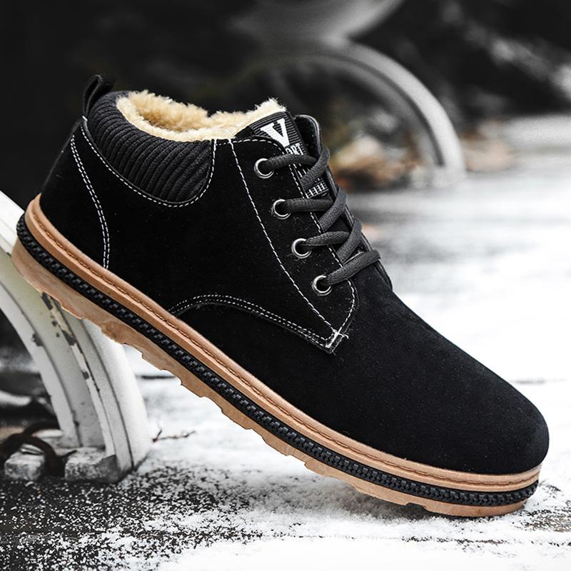 冬季鞋子男士雪地靴加绒加厚保暖棉鞋韩版潮流短靴子防水休闲男鞋