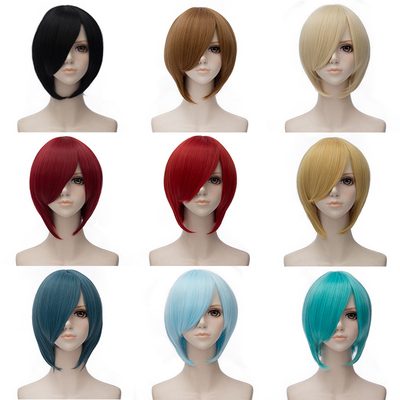 taobao agent Daily short hair cos universal cosplay anime face short hair red blue black purple silver white golden multicolor optional