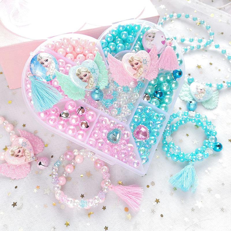 冰雪公主礼儿童串珠玩具diy手工珠子项链手链女孩益智材料包玩具