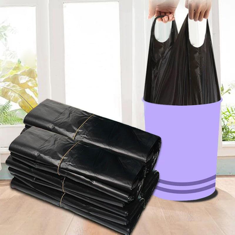 垃圾袋家用加厚手提式背心黑色厨房中大号塑料袋42