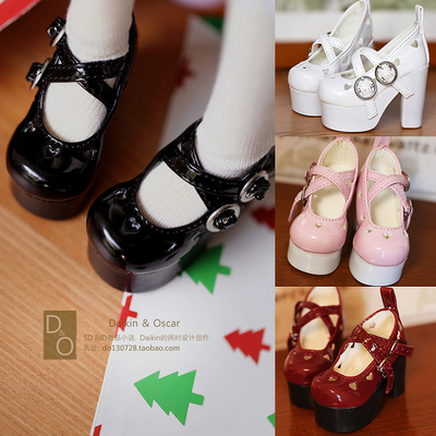 taobao agent DO spot bjd female doll shoes sd10 13dd mdd hollow buckle high heels 4 points 3 points 1