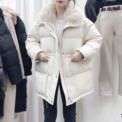 黑色棉衣韩版女冬2020年新款宽松小个子收腰中长款羽绒棉服外套潮