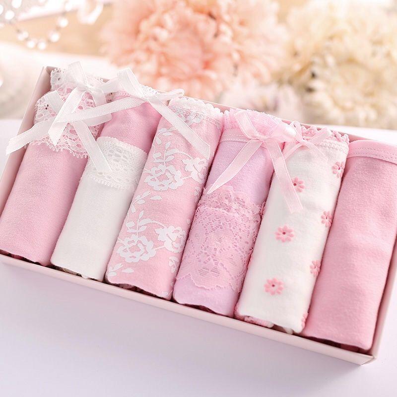 六条装女士内裤女学生新疆棉裆少女抗菌可爱