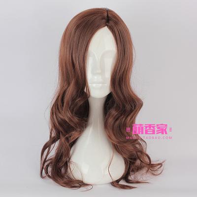 taobao agent Wonder Woman Diana Prince Cosplay Anime Wig Girls Brown Curly Long Hair