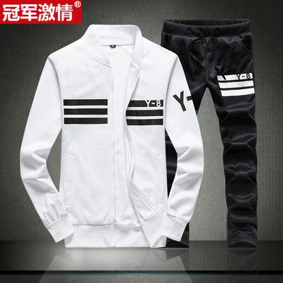 冠军激情开衫卫衣男外套运动装秋季新款潮流休闲运动套装