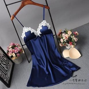 Весна строп лифчик дамское белье женщина лето модель шелковых ночное белье сексуальный восторг пижама домой одежда