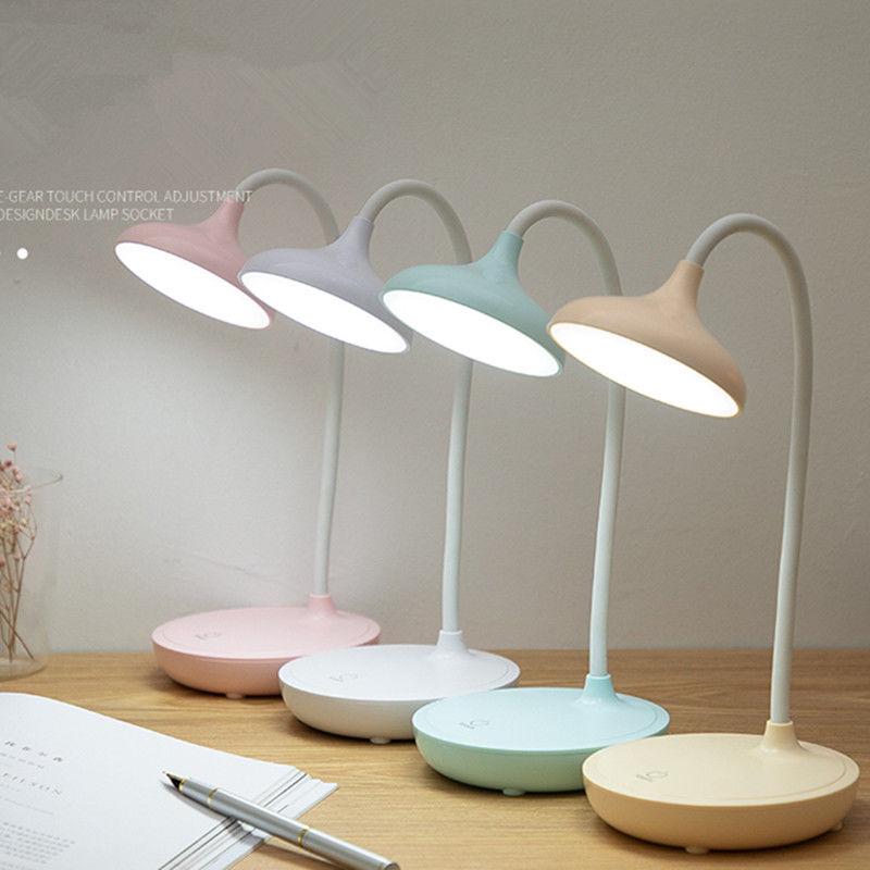 LED三档触摸调光阅读台灯USB充电插电节能护眼学习学生笔筒小台灯