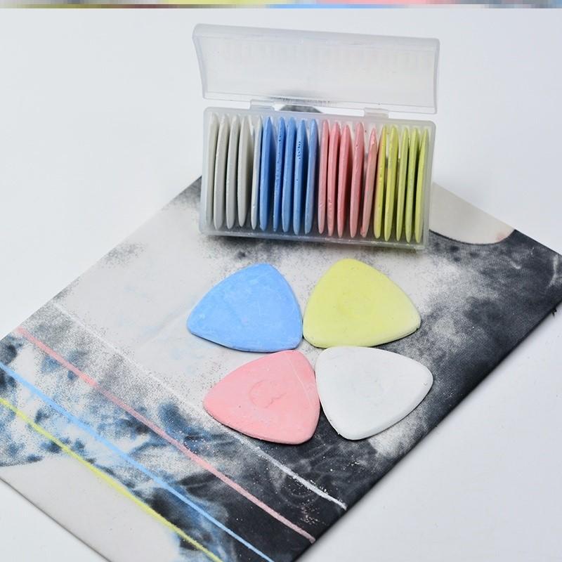 画粉笔裁缝用辅料免削高温彩线消失标记实用多色窗帘三角裁布剪裁
