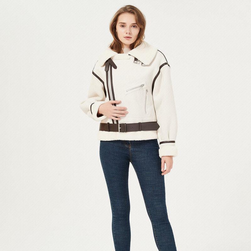 2020冬季新款绒面翻领休闲短款加厚棉服机车夹克外套|1204009