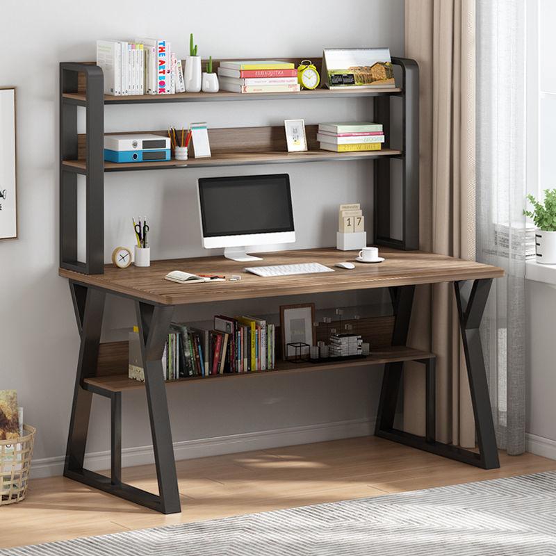 电脑台式桌书桌书架组合家用简约卧室学生简易写字桌办公桌小桌