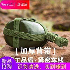 Bảo hiểm lao động ấm đun nước quân đội với ấm trà đơn giản và tiện lợi bằng nhôm bình thường cổ điển 2500ml quân đội đa chức năng trở lại nồi - Thiết bị nước / Bình chứa nước