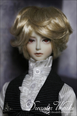 taobao agent BJD/SD 3 points wig hair/imitation mohair, noble curly short hair, brown mixed white gold 1/3