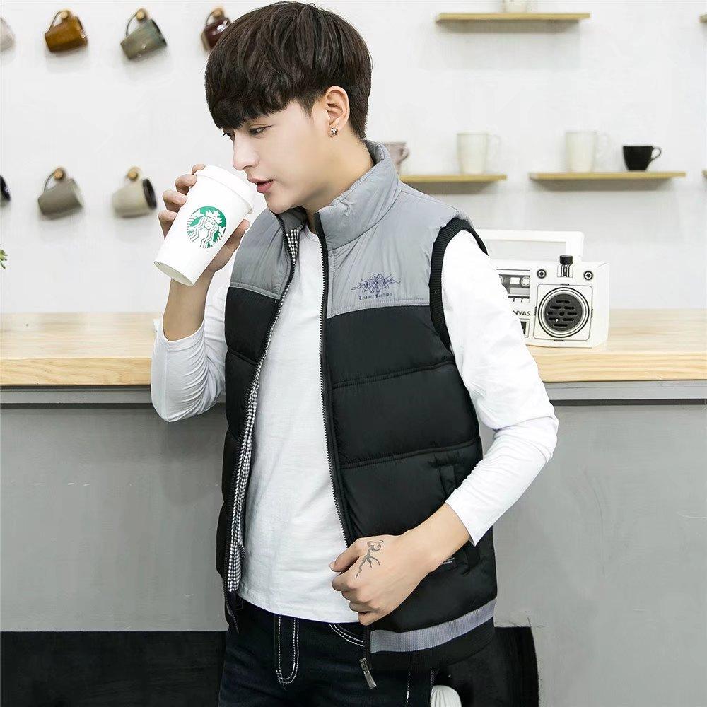 Mùa thu và mùa đông thể thao vest nam thanh niên thanh niên bánh mì dày vest vest bông coat MY03-P50
