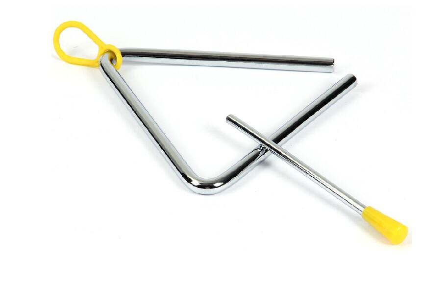 Nhạc cụ gõ Orff nhạc cụ tam giác chuông Trẻ em âm nhạc giáo dục sớm đồ chơi 4 inch 5 inch 6 inch 7 inch 8 inch