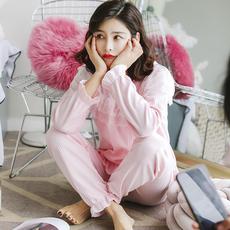实拍现货春季睡衣女纯棉秋韩版甜美 公主风长袖甜美可爱131