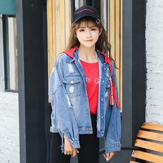 (实拍)2017秋装新款女牛仔外套秋季学院风韩版学生bf宽松百搭