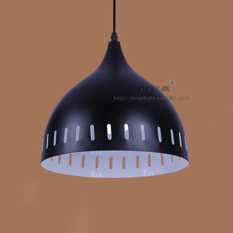 餐馆灯具吊灯饭店火锅店铁艺黑色金属咖啡厅酒吧餐厅酒店卡座吊灯