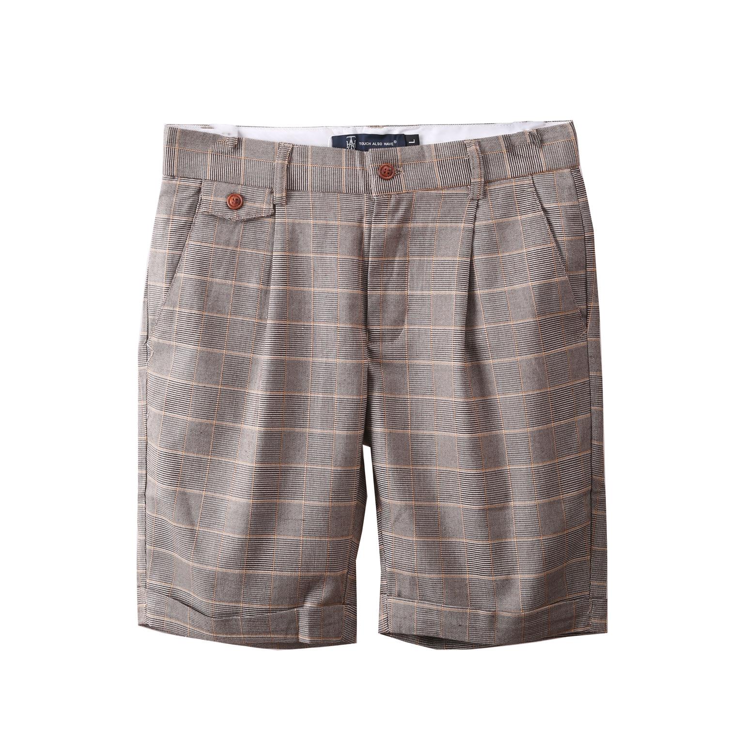Mùa hè thường kẻ sọc quần short nam năm quần Hàn Quốc phiên bản của xu hướng của tự trồng quần thời trang hoang dã của nam giới quần 307