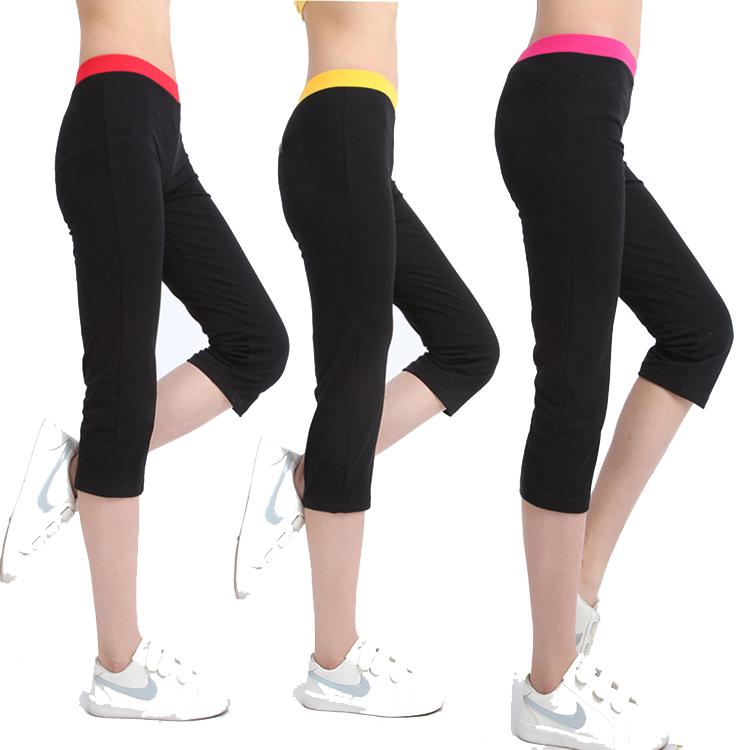 Đàn hồi cao chặt chẽ- phù hợp mỏng nữ thể hình quần thể dục nhịp điệu thể dục nhịp điệu quần 7 điểm quần thể dục thể thao khiêu vũ quần
