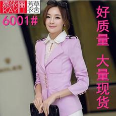 新款春装韩版职业女装中长款修身显瘦小西装休闲大码女装短外套潮
