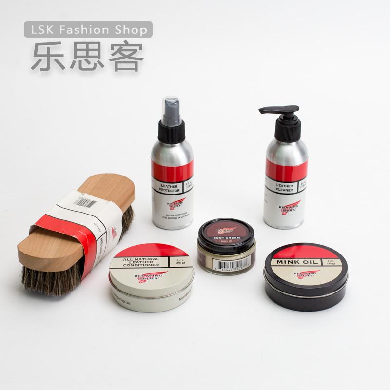 [乐 思 客] Red Wing Red Wing Phụ kiện chuyên nghiệp Làm sạch và bảo trì Dầu giày bảo vệ 貂 油 马 毛刷