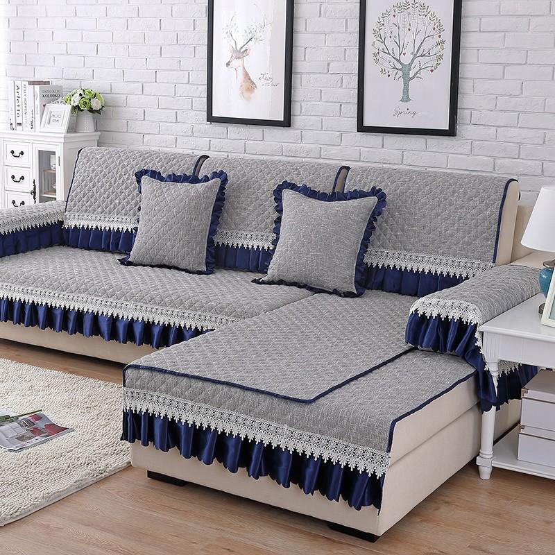 沙发垫四季通用欧式防滑坐垫亚麻现代简约棉麻全包万能沙发套罩巾