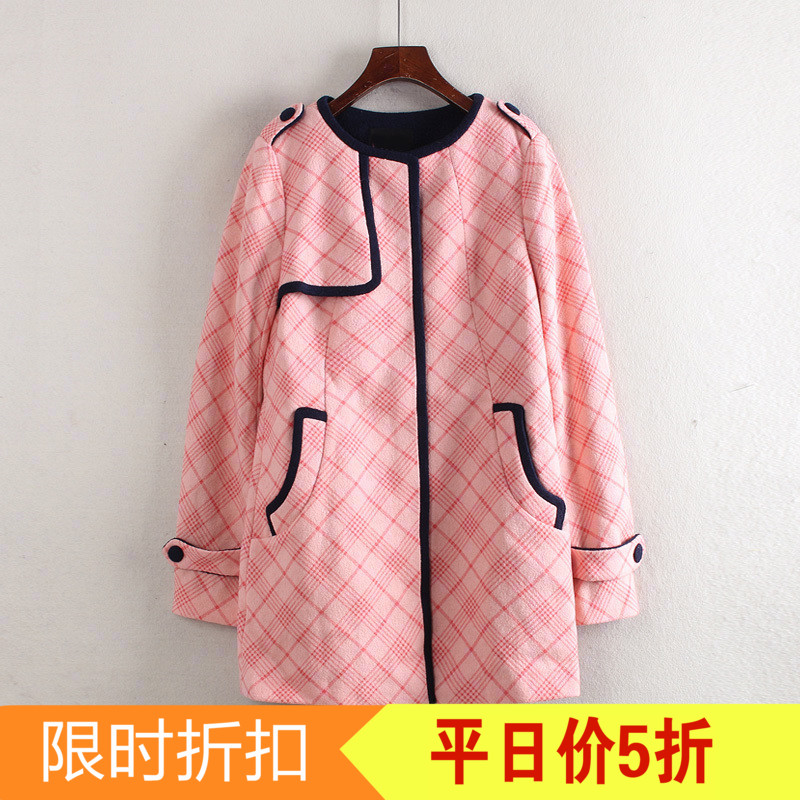 Luật loạt thương hiệu giảm giá cắt nhãn mùa đông của phụ nữ cổ tròn dài tay áo dài ngọt ngào ngọt ngào áo len C2585