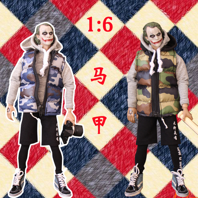 taobao agent Four points six points bjd trend doll soldier small cloth blythe baby clothes tide brand suit camouflage vest