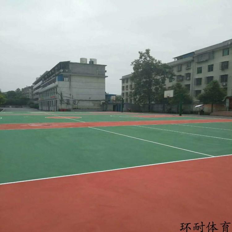硅pu塑胶篮球场 弹性丙烯酸球场地坪材料工程造价 体育馆球场山东
