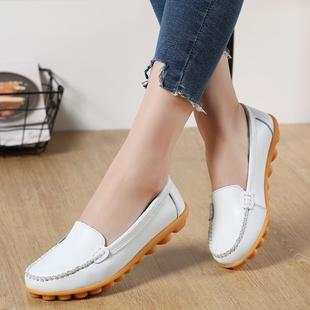 春秋平底小白鞋女护士鞋大码女鞋